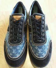 louis vuitton shoes for men. louis vuitton mens denim and suede leather sneakers sz 10.5 us 11.5 shoes for men r