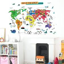wall world map world map wall sticker ilrated home decor vinyl wall art sticker for i i wall world map