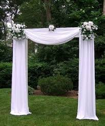 indoor wedding arches. tulle decorated wedding arches | any of dream days rental items can be added to indoor