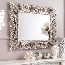 Ornate Silver Leaf Rococo Wall Mirror Juliettes Interiors