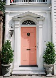 Coral Front Door 9 Bold Front Doors Damsel In Dior