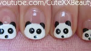 Panda Nail Art (For Short Nails) - YouTube