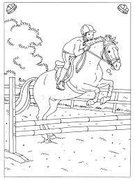 Kleurplaten Ruiter Op Paard