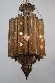 oversized 6 high spectacular exquisite pierced brass moorish moroccan chandelier this exquisite