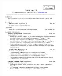 Teaching Resume Mesmerizing 28 Teacher Resume Templates Download Free Premium Templates Sample