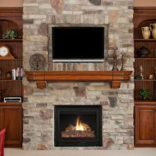 decoration real wood fireplace mantels contemporary wood mantel
