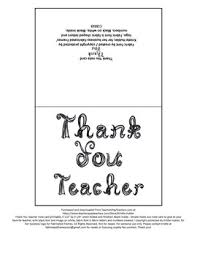 Thank You Black And White Printable Thank You Teacher Note Card Printable Black Fabric Font Letters