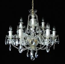 crystal chandelier with glass arms