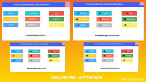 Java Material Design Look And Feel Material Design Look And Feel Version 2 Java Netbeans Button Icon