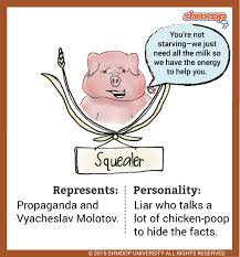 Animal Farm Character Chart Squealer A Pig In Animal Farm
