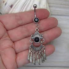 Dream Catcher Belly Button Rings Antique silver dreamcatcher belly button from MidnightsSweete on 100