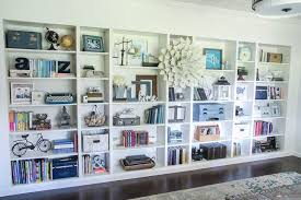 big beautiful wall of built in bookshelves made from ikea billy bookshelves it s a project i absolutely love and i am so glad i finally completed it
