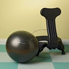 Gaiam Balance Ball Chair With Pump Pilates And Yoga At