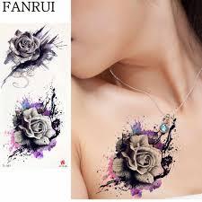 3d сексуальные черные кошки цветок татуировки наклейки женщины грудь вода