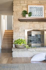 playroom office. Stacked Stone With Mantle In Playroom Office