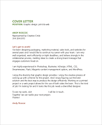graphic design cover letter sample cover letter for graphic designer