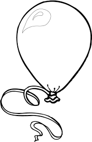 Big Birthday Balloon Coloring Pages For Kids Coloring Sky