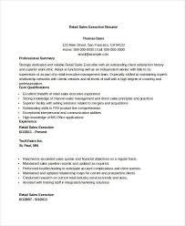 Retail Sales Executive Resume Incredible Account Executive Resume Samples