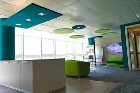 soundproofing office space. Open Space Offices Acoustics. Sound Proofing Panels With Led Lamps Soundproofing Office