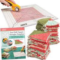 Quilt Rulers and Templates – Quilting rulers & EASY HALF SQUARE TRIANGLES TEMPLATE Adamdwight.com