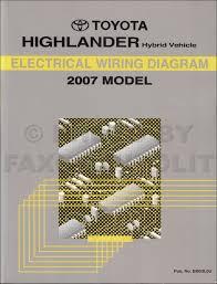 2007 Toyota Highlander Wiring Diagram Manual Original