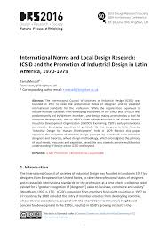 1979 Design International Norms And Local Design Research Latin America