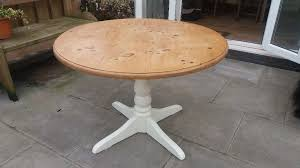 pine round table table top is 3ft 6 in diameter in brecon powys gumtree