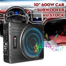 10 inç 600W araba Subwoofer araba ses altında ince koltuk aktif Subwoofer  bas amplifikatör hoparlör araba amplifikatör Subwoofer Woofer|Enclosed  Subwoofer Systems