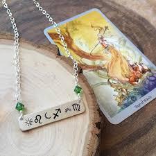 Custom Birth Chart Necklace Custom Astrology Necklace Crystal Jewelry Bar Necklace Birth Chart Necklace Zodiac Jewelry Natal Necklace Celestial Jewelry