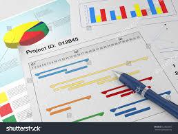 Paper Gantt Chart Closeup View Paper Documents Gantt Chart Stock Illustration