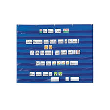 Extra Wide Pocket Chart Heavy Duty Extra Wide Pocket Chart Blue