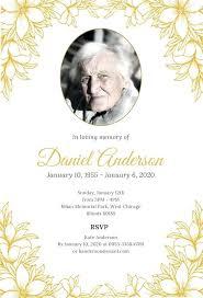 Memorial Announcement Cards Funeral Invitation Template Hearts Forever Memorial Announcement