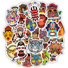 <b>50 PCS Totem</b> Sticker <b>Animal</b> Graffiti Tattoo Stickers to DIY ...
