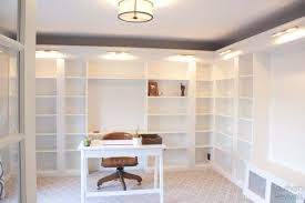 getting a built in library look with billy bookcases is possible perfect for a