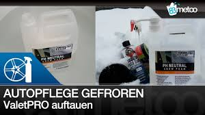 Autopflegeprodukte Bei Minustemperaturen | Valetpro Snow Foam