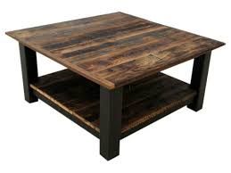 Reclaimed Barnwood U0026 Black Steel Coffee Table ...