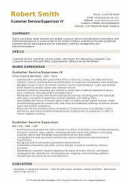 Sample Help Desk Supervisor Resume Customer Service Supervisor Resume Samples Qwikresume