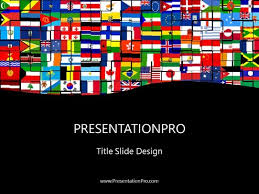 World Flags Powerpoint Template Background In Flags International