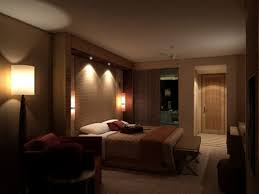 romantic bedroom lighting. Unique Romantic Master Bedroom Decorating Ideas With Lowered Ceiling Lighting And Dark Brown Nuance