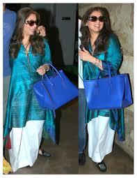 Ladies Lungi Designs Dimple Kapadia In Payalkhandwala Silk Kurta And Cotton Lungi