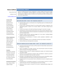 Financial Analyst Resume Format Sarahepps Com
