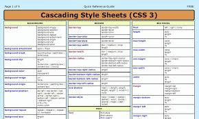 html reference sheet css3 cheat sheet html5 css3 javascript pinterest web