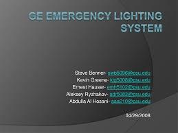 Ge Emergency Lighting Ppt Ge Emergency Lighting System Powerpoint Presentation