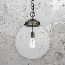 industrial clear glass globe pendant light