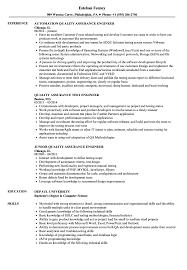 Quality Assurance Engineer, Quality Resume Samples | Velvet Jobs