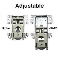 bottom roller assembly w tabs mirror wardrobe sliding closet door