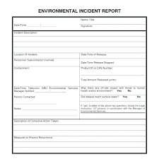 Free Construction Incident Report Form Template Large