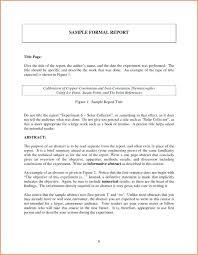 Report Format Template Word Business Sample Internship Doc Jiyoon Co