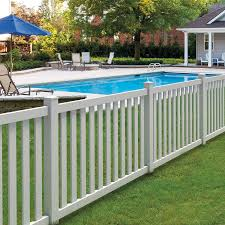 vinyl fence panels. Shop FREEDOM Ready-To-Assemble Durham White Flat-Top Picket Vinyl Fence Panel Panels