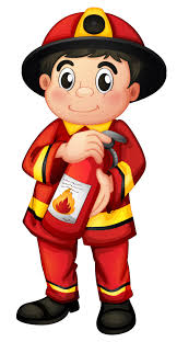 A fire man holding a fire extinguisher - Download Free Vectors, Clipart Graphics & Vector Art
